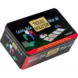 Tactic Games UK Pro Poker Texas Hold'em Set - Tin-3095