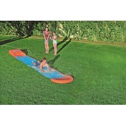 Bestway H20GO! Single Water Slide, 5.5 m Slip and Slide with Inflatable Ramp and Built-In Sprinklers