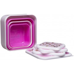 TokiDoki Set of 4 Snack Boxes Lunchbox Light Pink-TOKISNK4