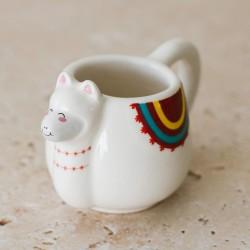 "Mug Set ""Animal Espresso Mug"" (Set of 4 - Lama, Unicorn, Narwhal, and Sloth)-MINESPMUGS"