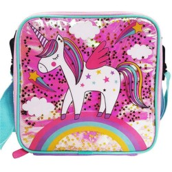 Polar Gear Glitter Confetti Unicorn Lunch Bag-4571315