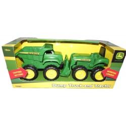 Mini Sandbox Tractor And Dump Truck Set-42952